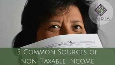 5 Common Sources of non-Taxable Income